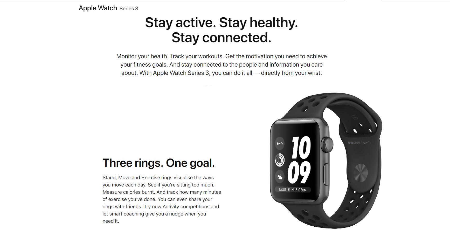 Apple Watch Series 3 (NIKE 42MM/ 42MM) - Original Malaysia Set